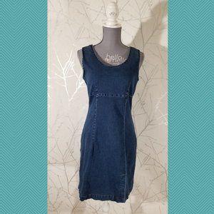 Nevada Jeans Retro Stretch Denim Sleeveless Dress